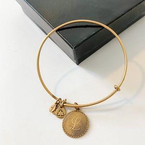 """Alex and Ani Gold """"L"""" Bracelet"""